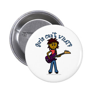 Dark Bass Player 6 Cm Round Badge