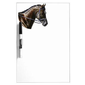 Dark Bay Dressage Horse Dry Erase Board