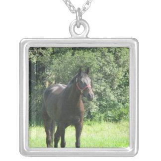 Dark Bay Horse Necklace