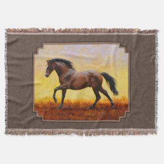 Dark Bay Running Horse Taupe