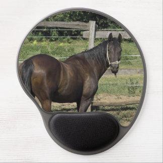 Dark Bay Thoroughbred Horse Gel Mousepads