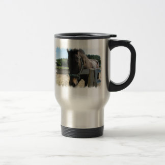 Dark Bay Thoroughbred Horse  Stainless Travel Mug