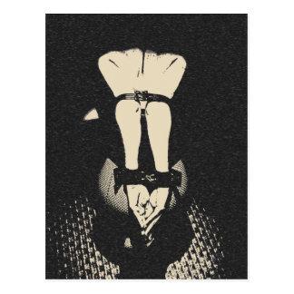 Dark bdsm, bondage art, erotic nude B&W cards Postcard