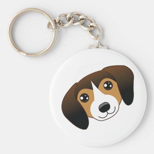 Dark Beagle Keychain