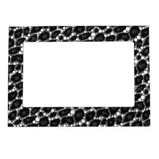 Dark Black Cheetah Magnetic Frames