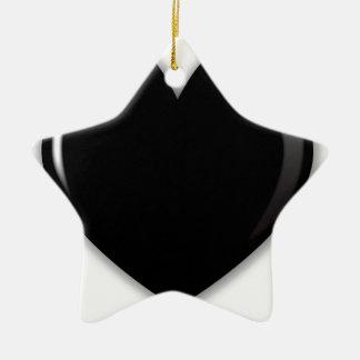 Dark Black Heart Christmas Ornament