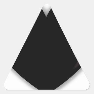 Dark Black Heart Triangle Sticker