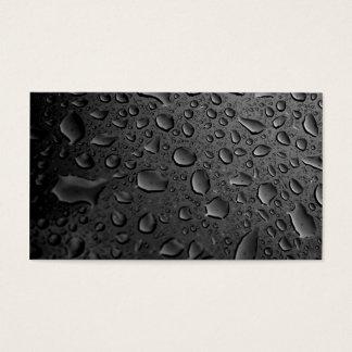 Dark Black Water Droplets Textured Design