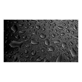 Dark Black Water Droplets Textured Design Business Card Template
