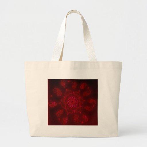 Dark Blood Mehndi Tote Bag
