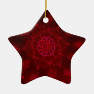 Dark Blood Mehndi Christmas Ornament