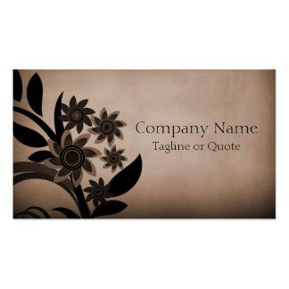 Dark Blooms Business Card Mocha