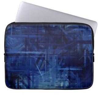 Dark Blue Abstract Art Painting 2 Laptop Sleeve