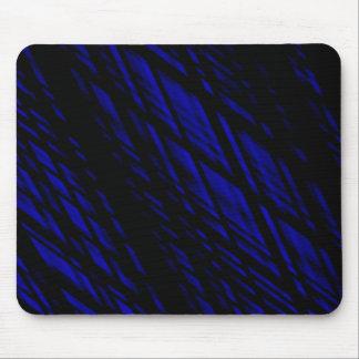 Dark Blue and Black Slanted Lines , Rhombus Mouse Pad