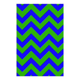 Dark Blue And Dark Green Chevrons Customised Stationery