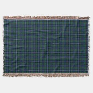 Dark Blue and Green MacLeod of Skye Clan Plaid Throw Blanket