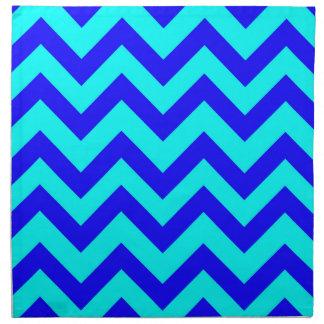 Dark Blue And Light Blue Chevrons Napkin