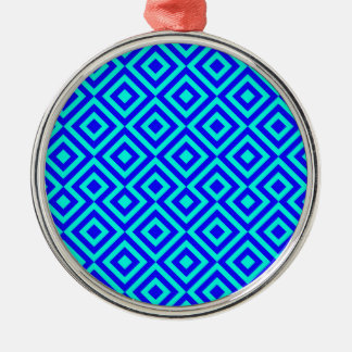 Dark Blue And Light Blue Square 001 Pattern Christmas Ornament