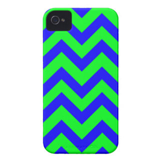 Dark Blue And Light Green Chevrons Case-Mate iPhone 4 Cases