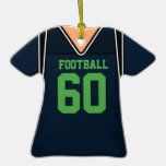 Dark Blue and Lime Green Football Jersey 60 V1