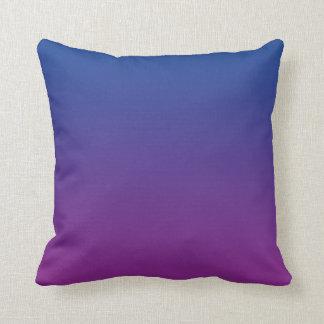 """Dark Blue And Purple Ombre"" Cushion"