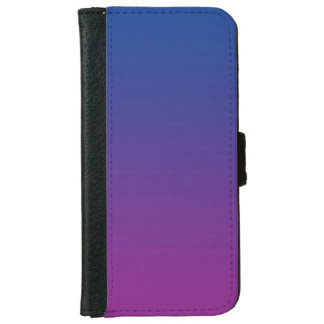 """Dark Blue And Purple Ombre"" iPhone 6 Wallet Case"
