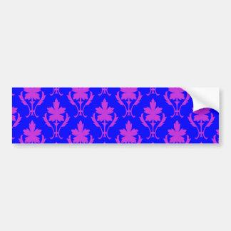 Dark Blue And Purple Ornate Wallpaper Pattern Bumper Sticker