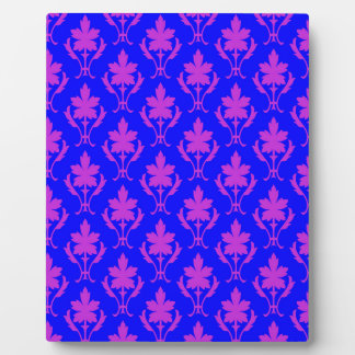 Dark Blue And Purple Ornate Wallpaper Pattern Plaque