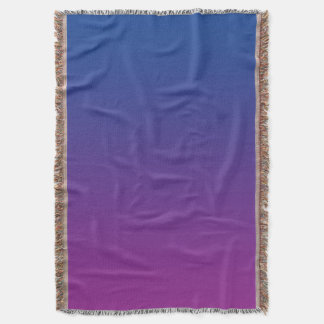 Dark Blue And Purple Throw Blanket