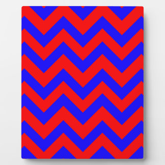 Dark Blue And Red Chevrons Plaque