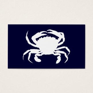 Dark Blue and White Crab Shape