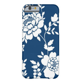 Dark Blue and white flower design iPhone 6 case Barely There iPhone 6 Case