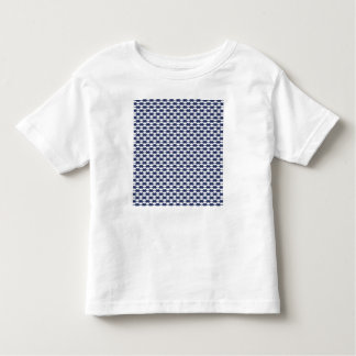 Dark Blue and White Oval Pattern Toddler T-Shirt