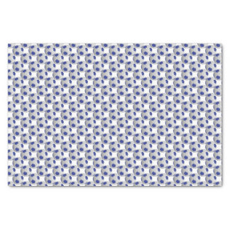 "Dark Blue and White Soccer Ball 10"" X 15"" Tissue Paper"