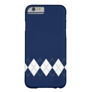Dark Blue Argyle Pattern iPhone 6 case