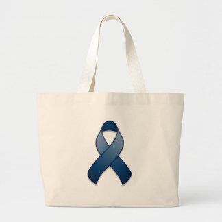 Dark Blue Awareness Ribbon Bag