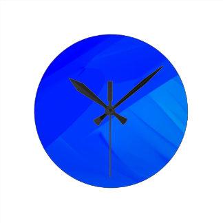 Dark Blue Backdrop Round Clock