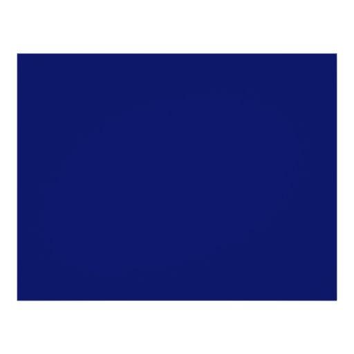 Dark Blue Background Custom Flyer