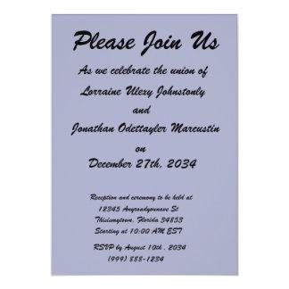 Dark Blue Background 5x7 Paper Invitation Card