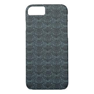 Dark blue baroque pattern iPhone 7 case