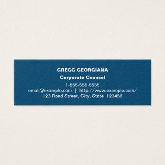 Dark Blue Basic Corporate Counsel Business Card