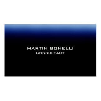 Dark Blue Black Indestructible Plain Clean Pack Of Standard Business Cards