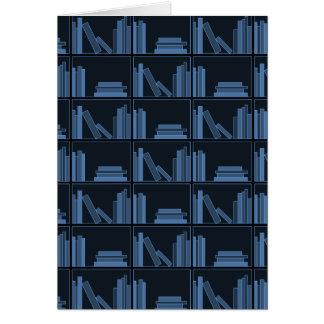 Dark Blue Books on Shelf Cards