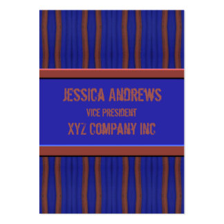 Dark blue brown retro distressed  lines business card templates