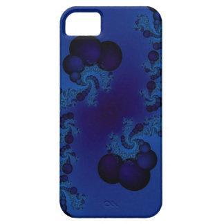 dark blue bubble fractal iphone case
