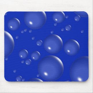 Dark Blue Bubble Mousepad