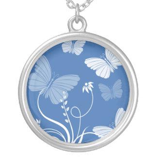 Dark blue butterflies necklace