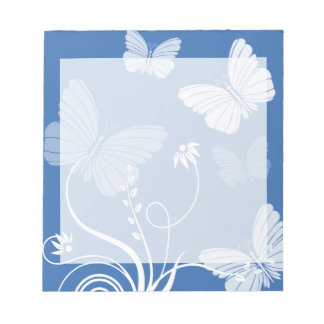 Dark blue butterflies Notepad
