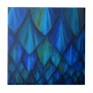 Dark Blue Cave Bat Pattern (dark blue pattern) Small Square Tile