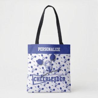 Dark Blue Cheerleader Girl Tote Bag